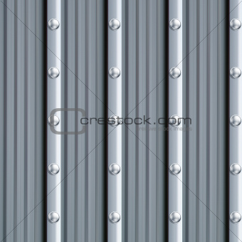 gray metal texture with silver rivets