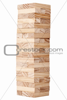 Wooden blocks tower