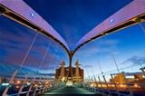 millennium bridge manchester from inside