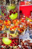 gummi bears and fresh fruits