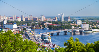 Kiev cityscape and Dnieper river