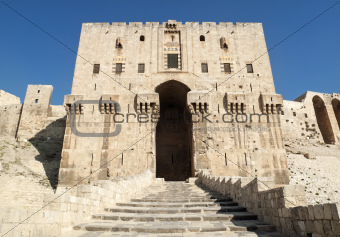 citadel gate in aleppo syria
