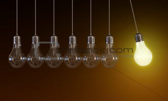Light bulbs in perpetual motion
