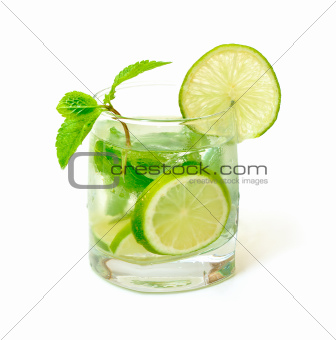 Mojito Cocktail in a Glass Beaker