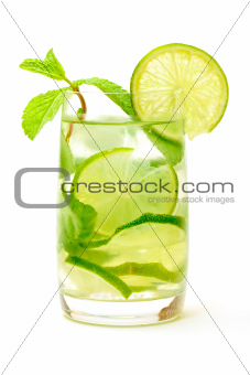 Mojito Cocktail in a Glass Beaker