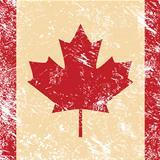 Canada retro flag