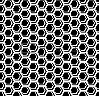 Seamless hexagons cellular texture. Honeycomb motif.