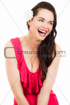 Beautiful laughing young woman