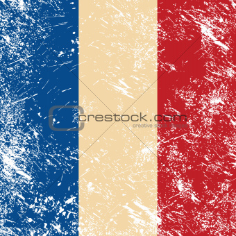 French retro flag