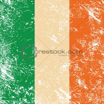Ireland retro flag