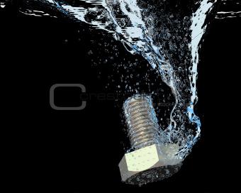 Bolt in Water splash