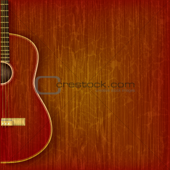 acoustic guitar on abstract grunge background