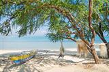 fishing boat on beach in dili east timor