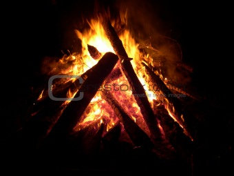night bonfire