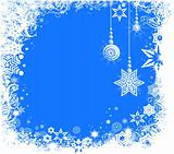 winter holiday frame