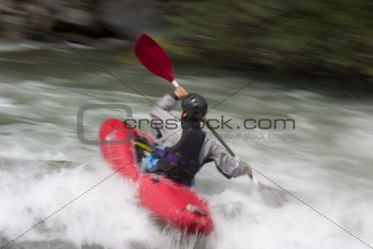 Action kayaking