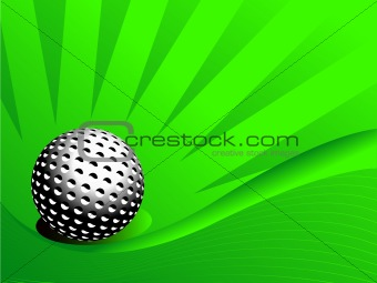 abstract golf ball illustration