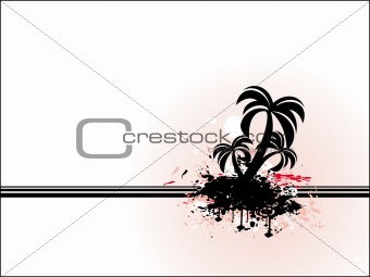 Abstract vector of black palm tree