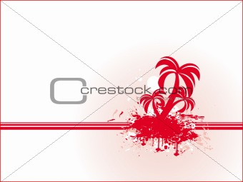 Abstract vector of red palm tree