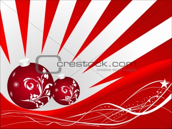 Abstract vector of sunset on christmas background