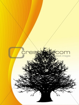 Abstract vector of tree background