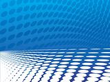vector illustration of wave effect theme in blue