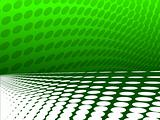vector illustration of wave effect theme in green