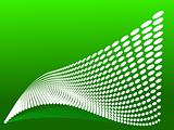 Vector tile wave on green background