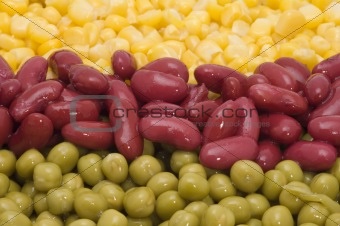 green peas with haricot and maize