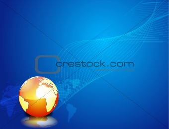 Blue vector background with globe