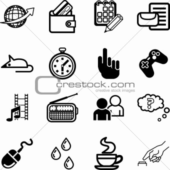 Computer application and media Icon set