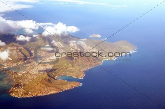 Aerial View of Honolulu Hawaii