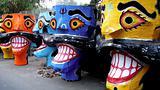 Ravana head effigies