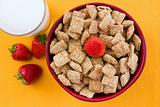 Wheat Squares and Strawberries for Breakfast
