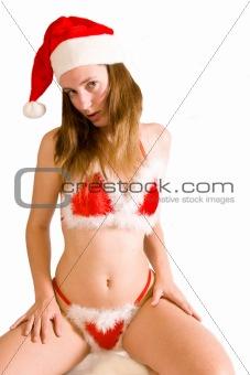 Sexy christmas bikini girl