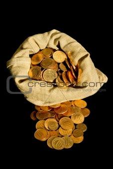 Money and sack