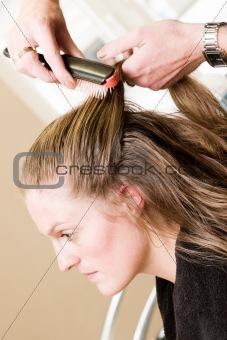 Bride at the beauty shop