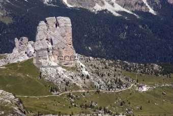 Five towers Dolomites view