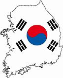 Map Korea South