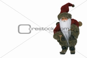 Santa Claus with ski - front - right side