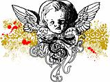 Wicked cherub illustration