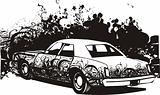 Graffiti car illustration