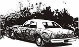 Graffiti car illustration