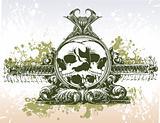 Skulls portal illustration