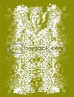 Angelic background illustration