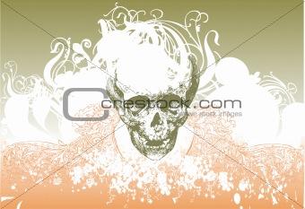 Alien skull illustration