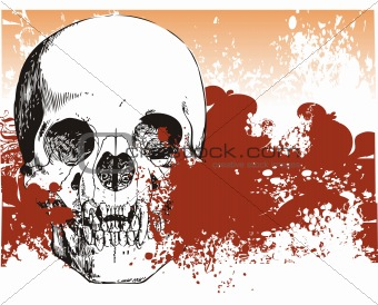 Bloody skull illustration