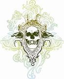 Trophy skull illustration