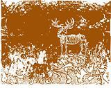 Elk skeleton illustration