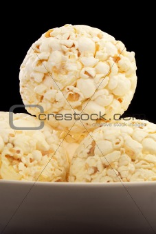 Bowl of popcorn balls